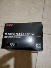 Sigma AF 18-200mm F/3.5-6.3 II DC OS HSM Optical Stabilizer for Canon.Never used