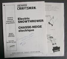 Orig Sears Craftsman Electric Snowthrower Manual Model C950-52582 Eng/Fr P/N5528