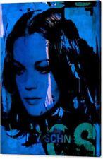 Motiv Romy Schneider Vintage Blue Pop Art/Malerei/StreetArt/Leinwand/Kunstdruck