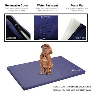 NAVY Waterproof Dog Cage Mat Pet Dog Cat Bed Pad Washable Cover FR APPROVED