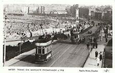 Transport Postcard - Trams on Margate Promenade c1918  D503