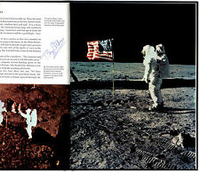 Footprints On The Moon - Signed by Lunar Astronaut Buzz Aldrin - Apollo XI -1st