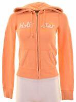 HOLLISTER Womens Hoodie Sweater Size 6 XS Orange Cotton  NO11