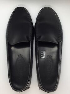 Tod's Black Leather Loafers size 7 1/2