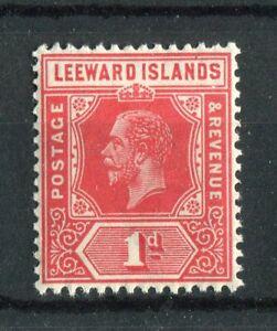 Leeward Islands KGV 1931-32 1d bright scarlet die I SG83 MNH