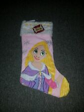 Disney Princess Tangled Rapunzel Christmas Stocking NEW Pink White Holidays G1