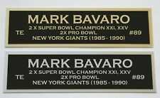 Mark Bavaro nameplate for signed jersey football helmet or photo