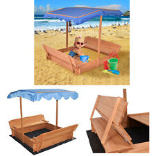 Sandbox with Canopy and Two Bench Seats for 3 to 4 Kids Can Place Sea Ball