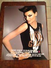 Mac Cosmetics Viva Glam V LINDA EVANGELISTA 22x28 Advertising Sign