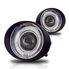 Fit for 02-04 Altima/03-05 IN FX35/45 Clear Halo Projector Fog Lights Lamps Pair