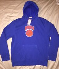 NEW YORK KNICKS MAJESTIC HARDWOOD CLASSICS TECH PATCH PULLOVER HOODIE Large