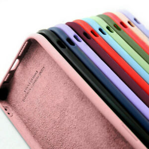 Silicium liquide Coque Etui Pour iPhone 12 Pro Max 12 mini 11 8 7 XR XS SE 2020