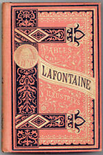 Jean de La Fontaine FABLES ca. 1875 in original decorative cloth VG condition