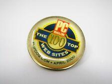 2000 Collectible Pin: Flipdog Dot Com PC Magazine 100 Top Web Sites