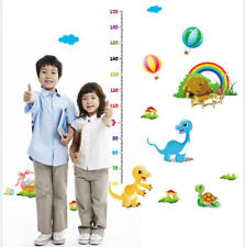 Dinosaurs Growth Height Chart Wall Stickers Boy Girl Room Art Decal Holiday Gift