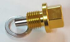 TOYOTA M12X1, 25 magnético cárter Tapón de cárter Celica Mr2 Supra Starlet oro