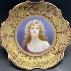 Antique+Royal+Vienna+Porcelain+Portrait+Hand+Painted+Plate+Huge+13%E2%80%9D+Wide+Gilt