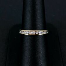(Wi1) 18ct Channel Set Diamond Ring 2.3gms Size O - 81-02-619
