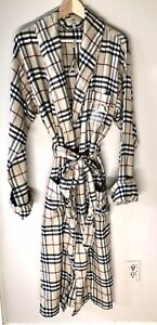 GREAT GIFT FOR DAD! Authentic BURBERRY NWT Iconic Plaid Bathrobe w/ Belt Sz L