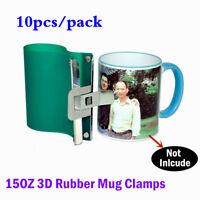 10PCS / LOT, Sublimation Silicone Mug Wraps for 15OZ Mugs, 3D Rubber Mug Clamps