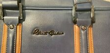 Robert Graham Blue-Tan 2-Striped Messenger Bag Used & Worn With Carry Strap $125