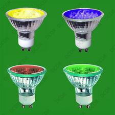 4x 2w + LED GU10 de color Bombillas Foco, rojo, amarillo, azul y verde,