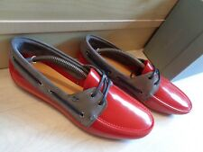 New Vivienne Westwood tie deck moccasin UK 9 43 red / grey Made in Italy £210