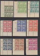 INDONESIA(Japanese Occupation) : SUMATRA 1943 definitives set SG15-26 MNH blocks