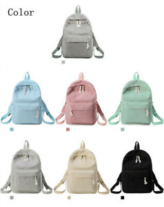 Girls Rucksack Women's Backpack Knapsack Female Corduroy School Fabric Backpack