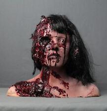 Life Size Female Zombie Head Halloween Prop & Decoration The Walking Dead Corpse