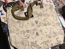 WINNIE THE POOH EEYORE & PIGLET COTTON TOTE BAG TU NEW WITH TAG