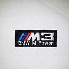BMW M Power 3 Embroidered Badge Iron On/ Sew On Logo Clothes Jacket Jeans (AB)