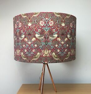 William Morris Strawberry Thief Red Handmade Lampshade