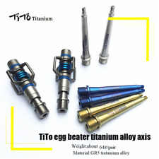 TiTo Egg Beater Titanium Bicycle Pedal Axis MTB Road Bike Pedals Ultralight 64g