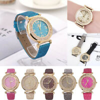 Fashion Women Round Crystal Stainless Steel Analog Quartz Watch Wrist Watches