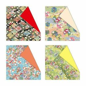 DAISO Japan Doublesided chiyogami paper 4patterns 15each cute Kawaii Origami 1