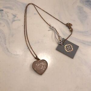 """Rose Quartz Gemstone Pink pendant 925 sterling silver Rose Gold necklace Sz 18"""""""