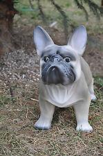 Hund, französische bulldogge lebensechter Optik 37 cm groß DEKOFIGUR, DEKO