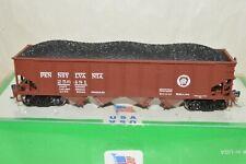 HO scale Bowser Pennsylvania RR H-21 4 bay coal hopper car train