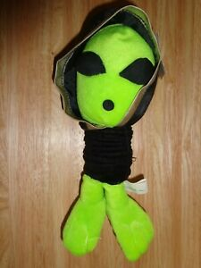 NANCO 1999 GREEN ALIEN SLINKY PET - RARE FIND - NEVER USED NWT