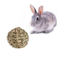 Natural Grass Hamster Rabbit Guinea Pig Pet Chew Toys Straw Woven Ball With Bell