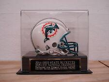 Mini Helmet Display Case With An Ohio State Buckeyes 2015 CFP Engraved Nameplate