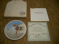 1990 Norman Rockwell Christmas Plate A Christmas Prayer Collector Plate Knowles