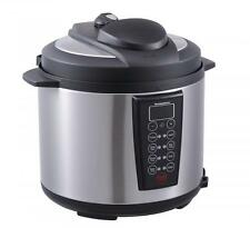 Black 1000-Watt 6-Quart Electric Pressure Cooker Brushed Stainless and Matte 603