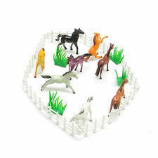 8 pcs Horses and Pony Childrens Farm Animal Plastic Toy Figures Boys Girls Play