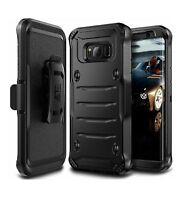 Galaxy S8 Plus Case, E LV Belt Swivel Clip / Kickstand - Dual Layer Armor Black