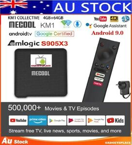 ✔AU Latest MECOOL KM1 ATV Google Certified S905X3 4GB + 64GB Android 9.0 TV BOX