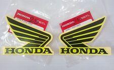 Honda Wing Fuel Tank Decal Wings Sticker 2 x 95mm Black & Lemon Ice Yellow