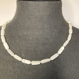 Mother Of Pearl Necklace 925 Clasp Cute Surfer boho