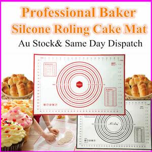 Premium 60x40 L Size Silicone Cake Dough Mat Pastry Clay Fondant Baking Sheet